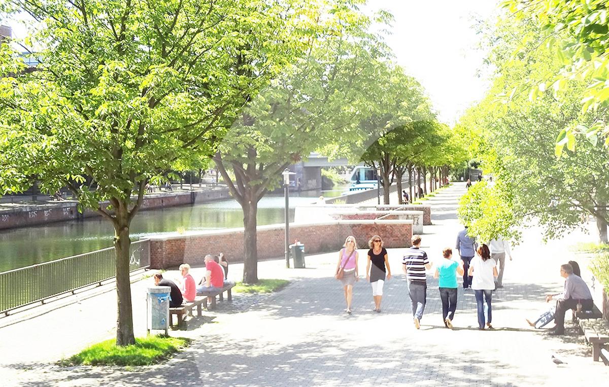 Mittelkanal Hamburg City Süd